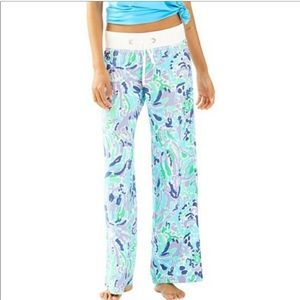 NWT Lilly Pulitzer Nice Ink Lilac Linen Beach Pant